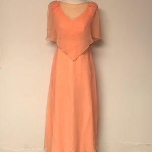 Vintage 1950's Peach Gown
